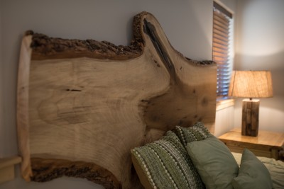 Master Bedroom Sawmill Slab Headboard