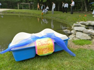 Paddle boat decorated