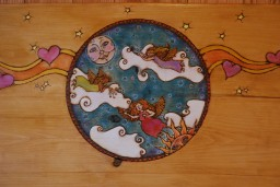 Pyrography original artwork for Heavenly Hideaway headboard