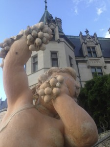 Cherub at the Biltmore Estate celebrates 84 years with grapes.